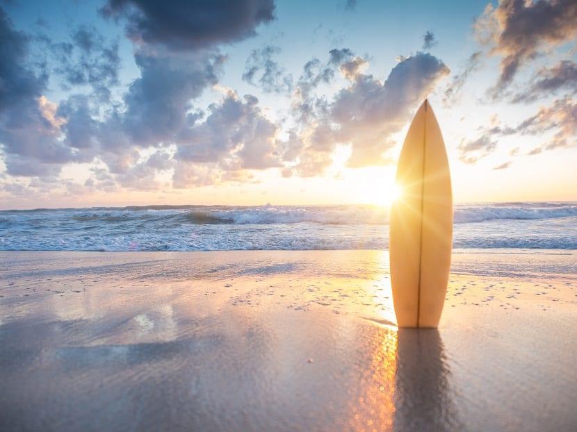 Surf durante el Terral
