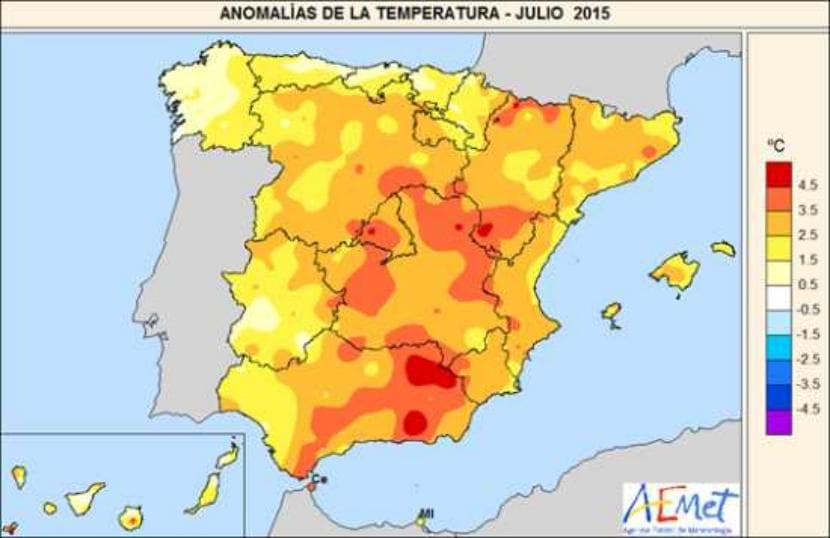Temperaturas de julio 2015
