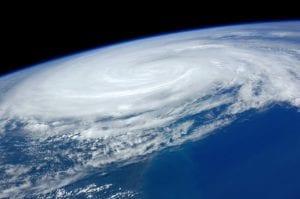 Huracán vista por satélite