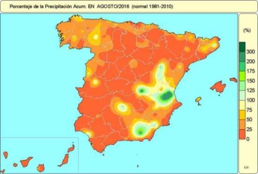 Precipitaciones de agosto