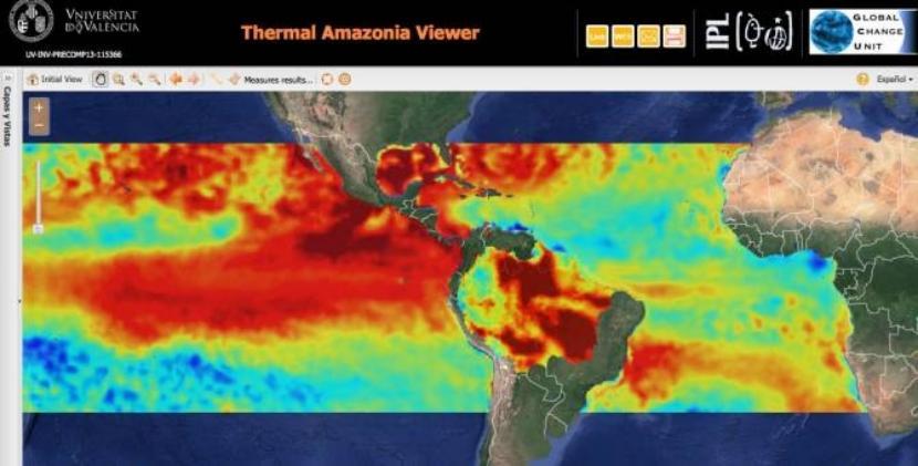 Imagen de calentamiento en el Amazonas