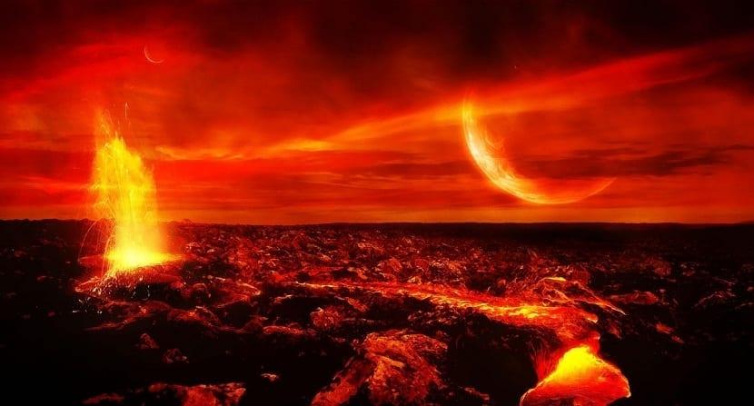 Atmósfera primitiva compuesta de metano