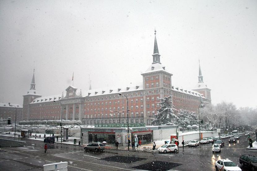 Nieve en Madrid.
