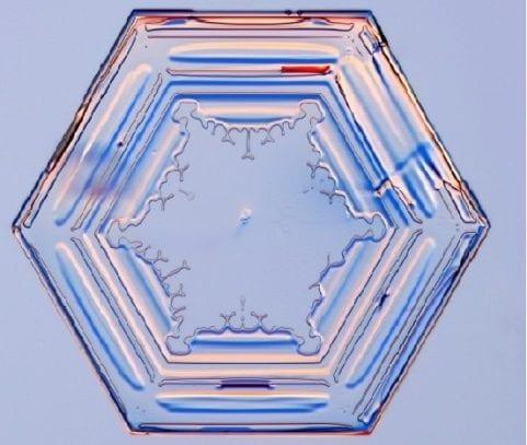 Prisma simple cristal de hielo