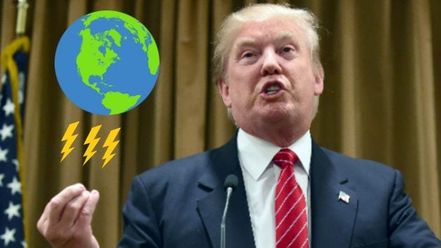 donald trump cambio climatico