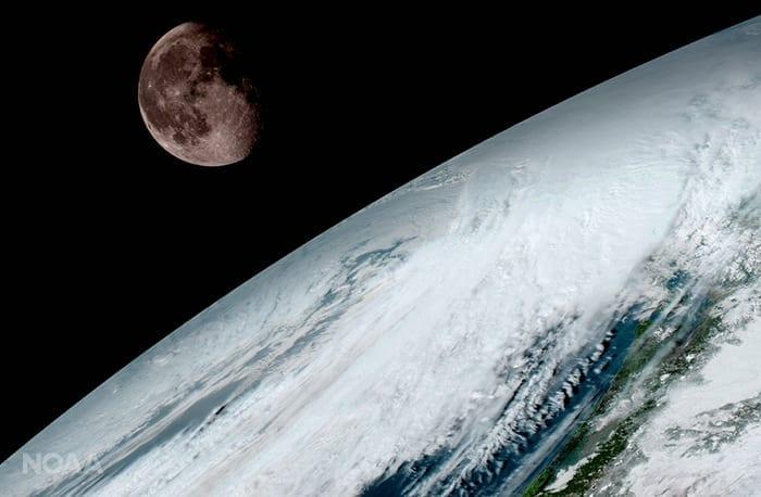 Luna y Tierra