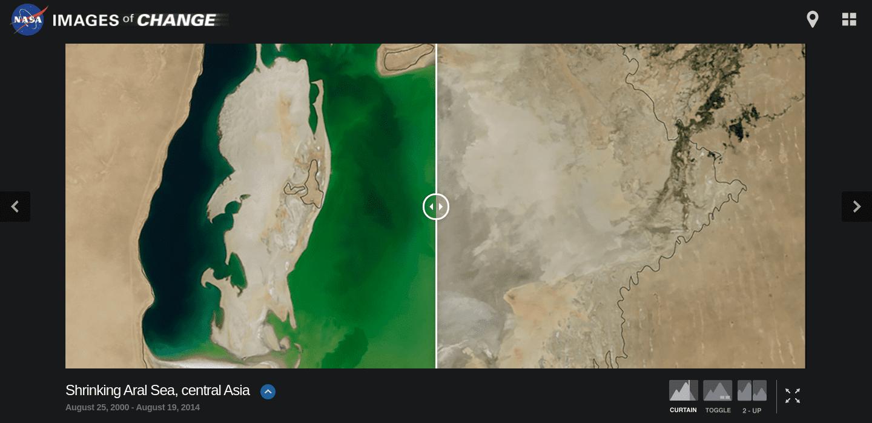 Mar de Aral en Asia
