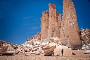 Formación de roca en el desierto de Atacama