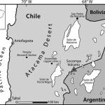 Mapa del desierto de Atacama