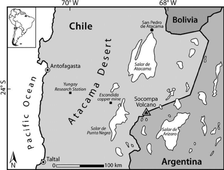 Desierto De Atacama Mapa America.Desierto De Atacama El Lugar Mas Arido De La Tierra
