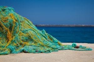 Redes de pesca y el mar