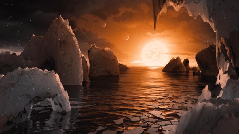Así podría ser el planeta F según la NASA