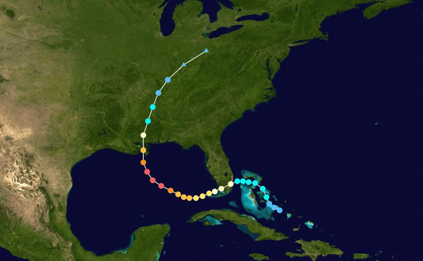 Trayectoria del huracán Katrina