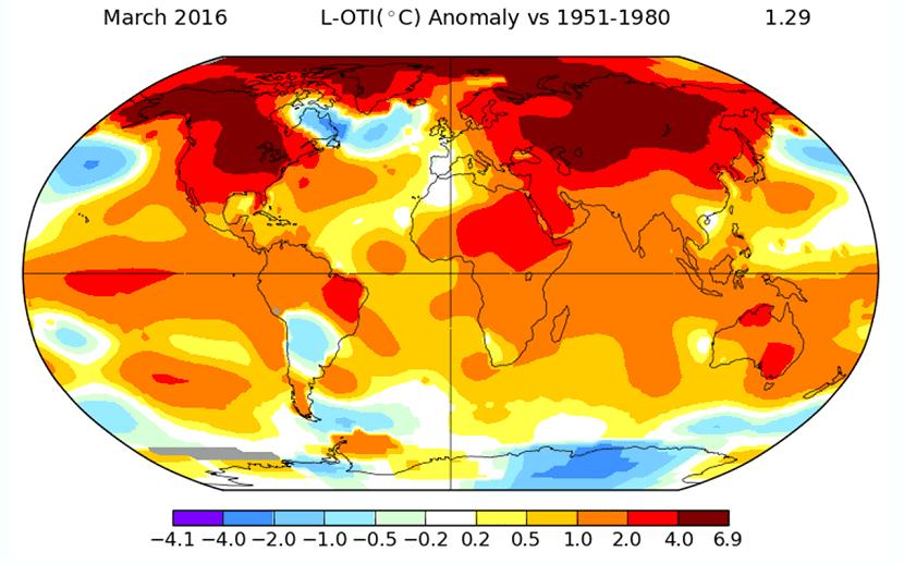las temperaturas aumentan debido al calentamiento global