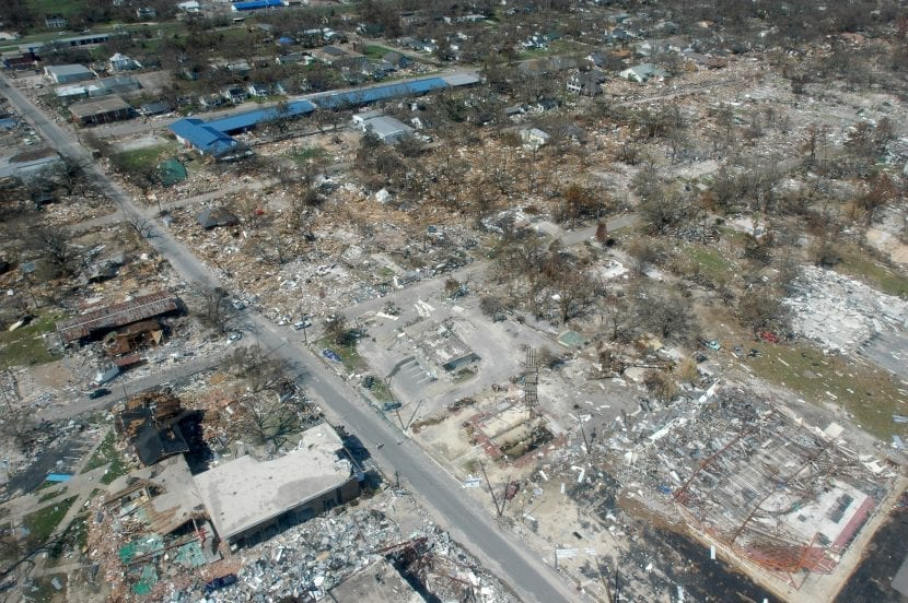 Huracán Katrina, daños en Mississipi