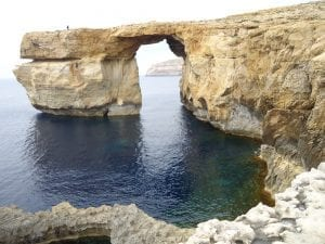 Ventana Azul, en Malta