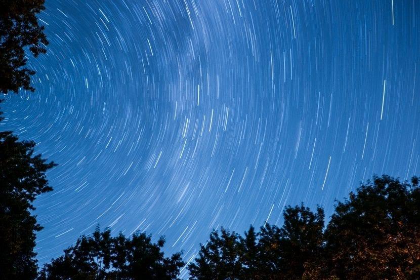 Lluvia de estrellas en el bosque
