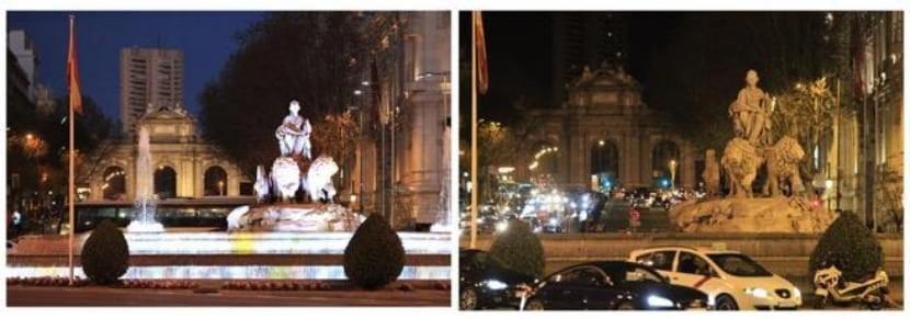 Madrid durante la Hora del Planeta