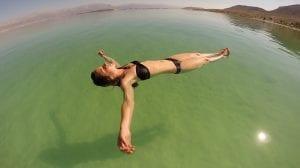 alta salinidad del mar muerto