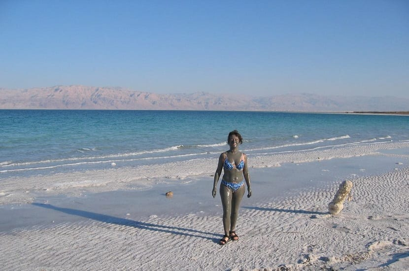 sequía en el mar muerto