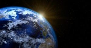 Planeta Tierra vista desde el espacio
