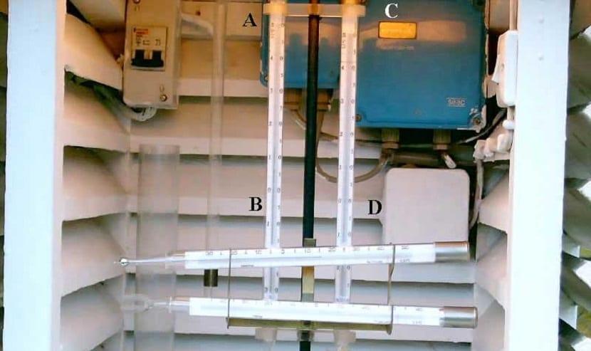psicrómetro para medir la humedad
