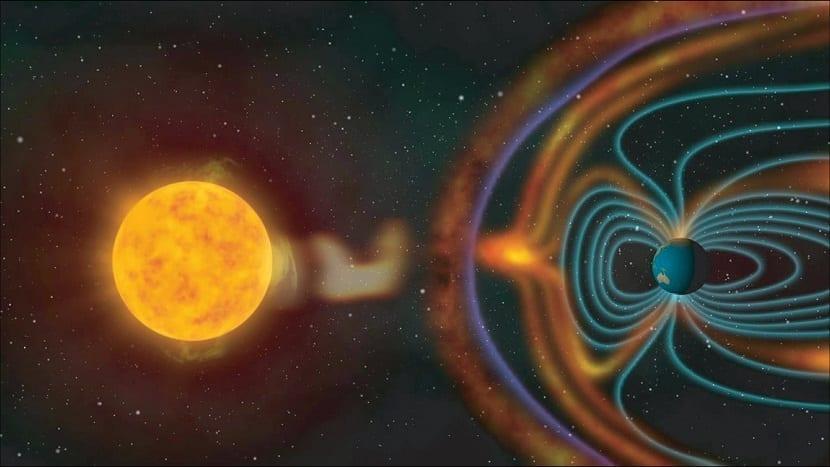 radiacion del sol a la tierra