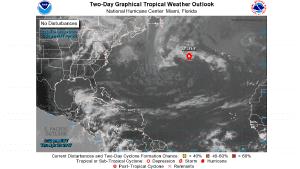 Imagen de la depresión tropical 'Arlene'