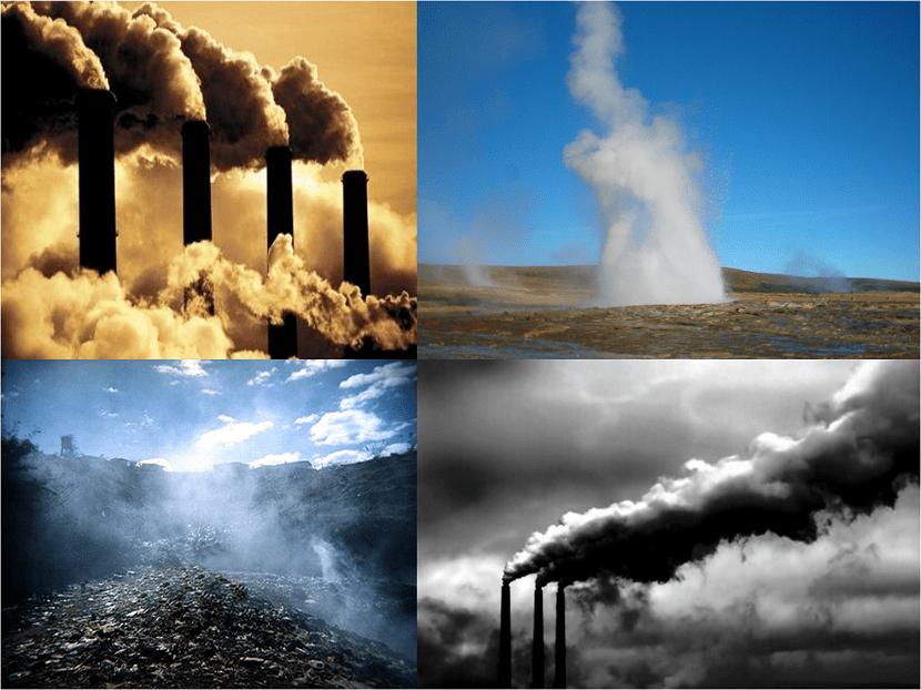 Los gases de efecto invernadero retienen calor en la atmósfera y aumentan las temperaturas globales