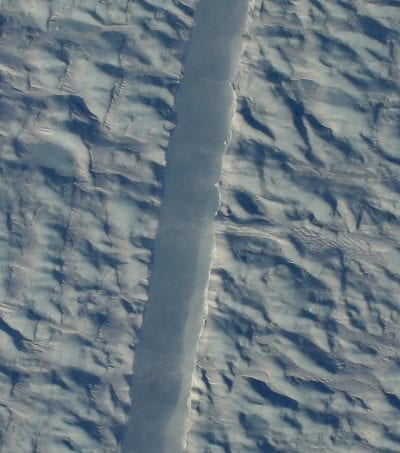 Grieta en glaciar