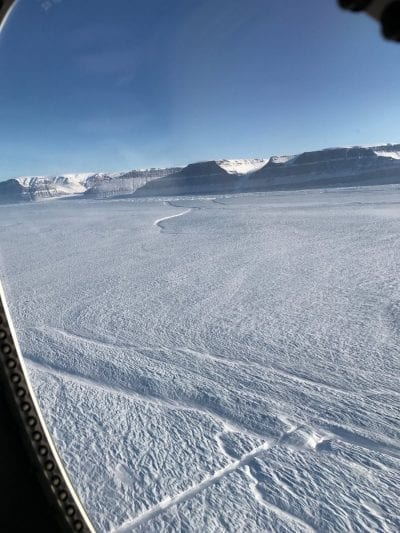 Grietas en el glaciar Petermann
