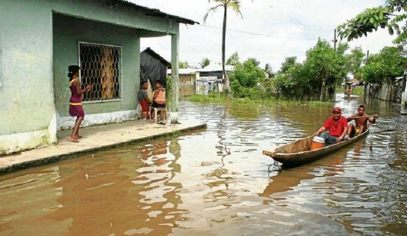 Imagen de las inundaciones en la Mojana