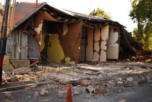 Daños en Talca (Chile) por terremoto.