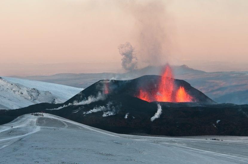 Cráter del volcán Eyjafjallajökull