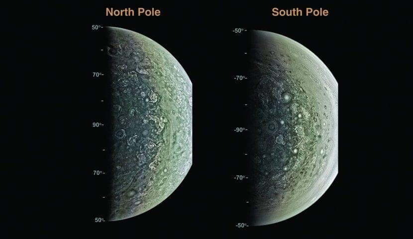 Los dos polos de Júpiter