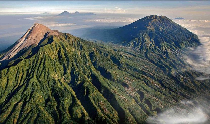 Monte Merapi, en Indonesia