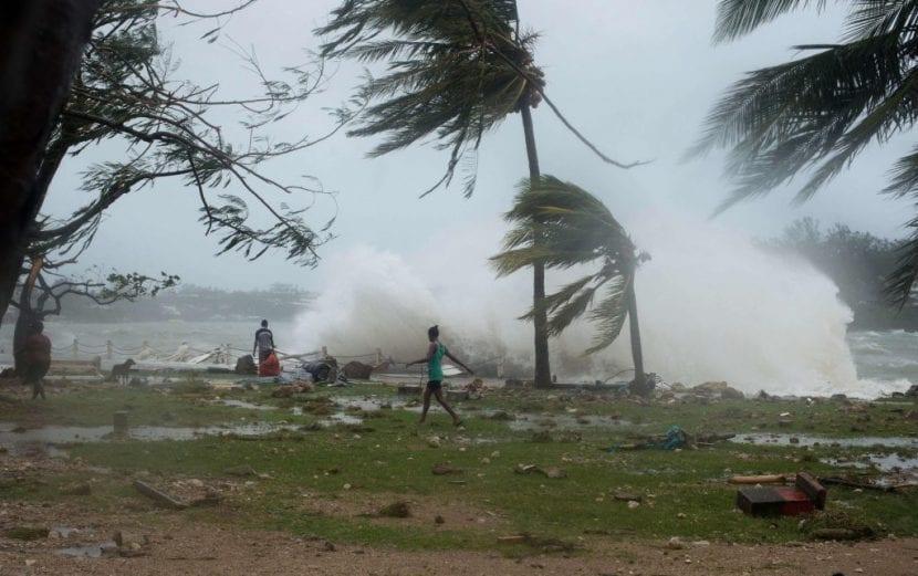 Tormenta tropical en Vanuatu