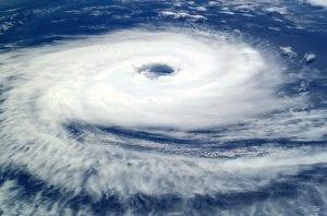 Ciclón visto por satélite