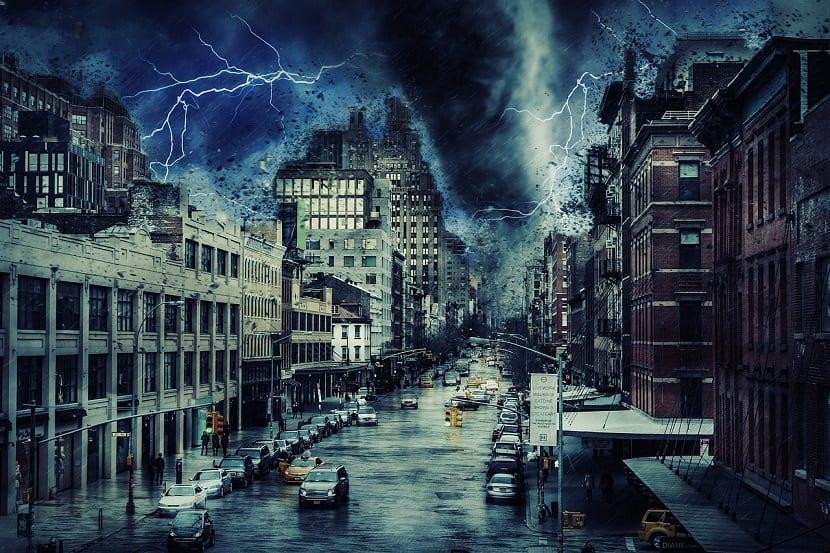 tornado en ciudad