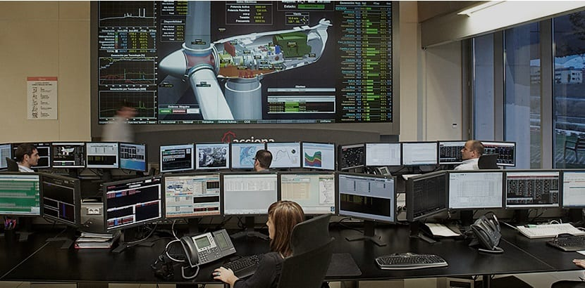 Centro Control Energía de Acciona