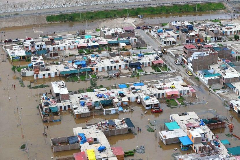 Inundación, una de las consecuencias de El Niño