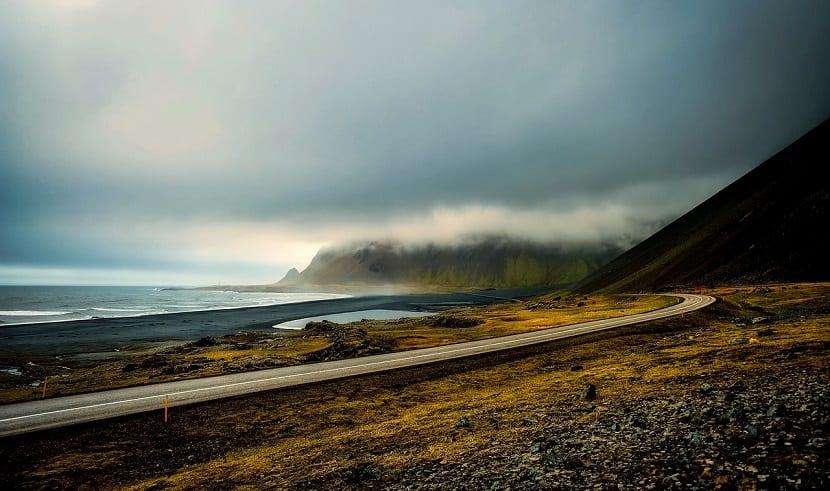 islandia tundra mar