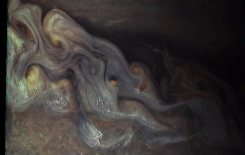 nubes de Júpiter tormentas
