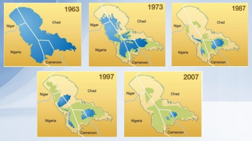 lago del chad se seca con los años