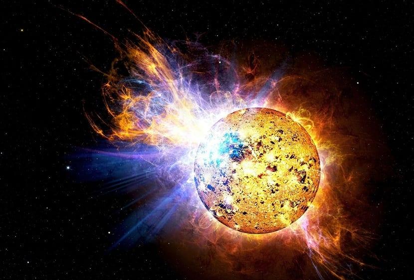 llamarada solar