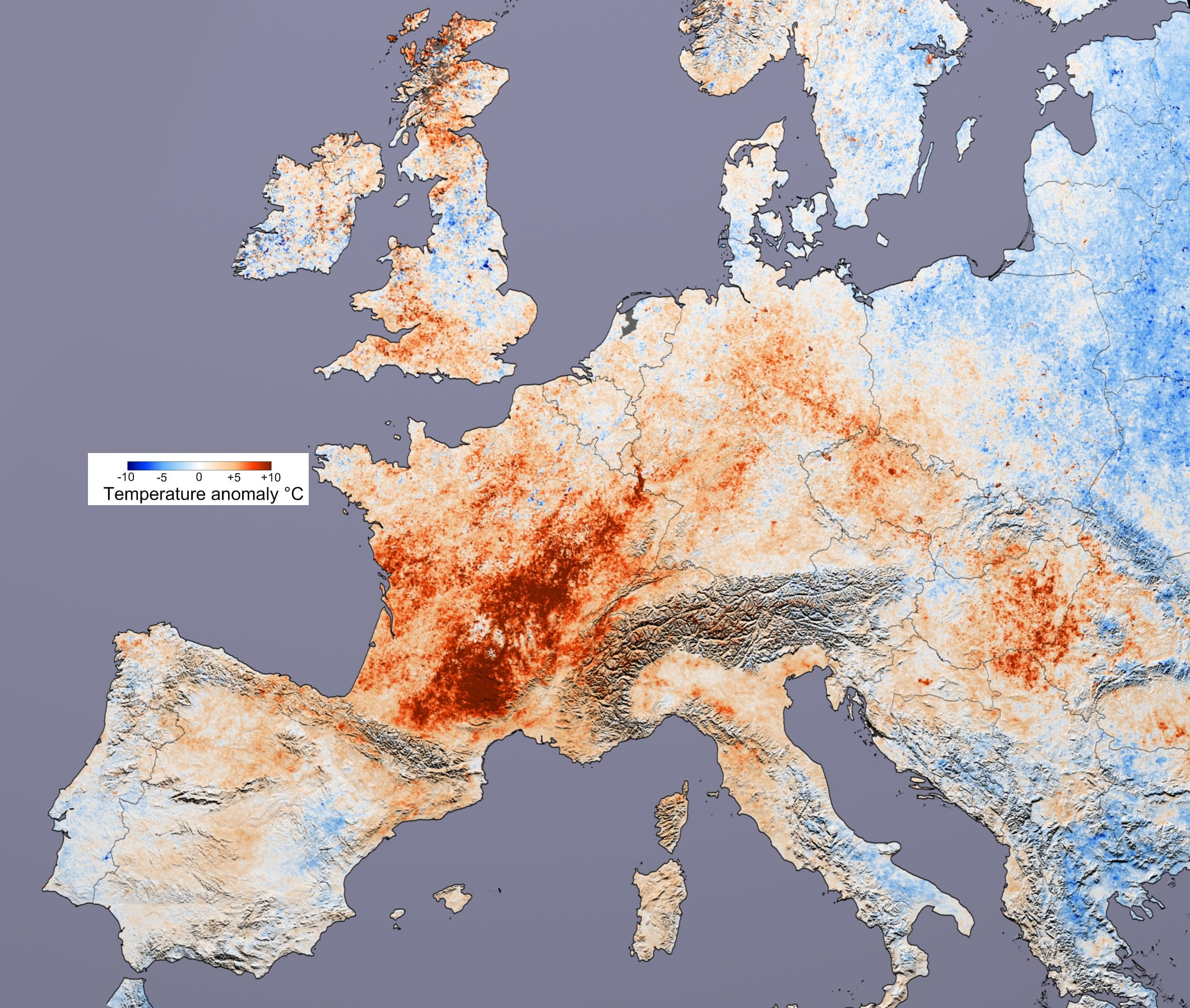 Ola de calor en Europa, el año 2003