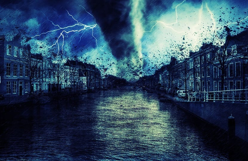 tornado de agua