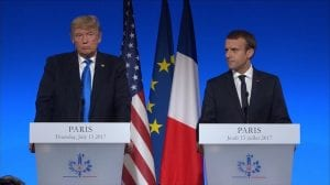 trump macron paris