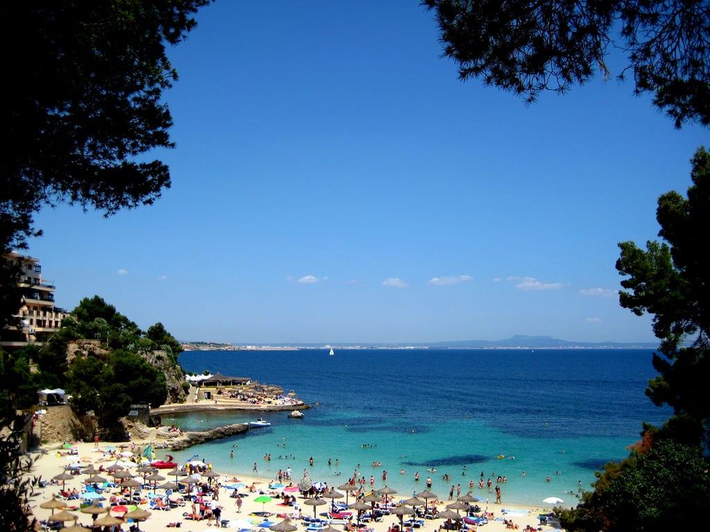 Playa de Illetas en Mallorca