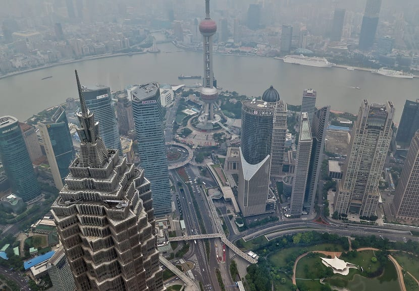 contaminación en Shanghái ciudad